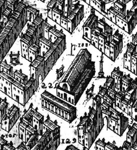 App map: The Mercato Vecchio in 1584