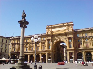 Piazza della Repubblica, with column of the Dovizia